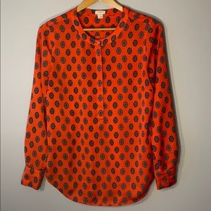 J.Crew Tunic with neru collar and hidden buttons
